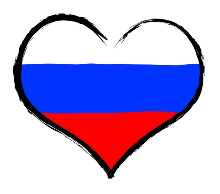 kreml: Russia - The beloved country as a symbolic representation as heart