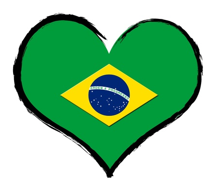 Brazil - The beloved country as a symbolic representation as heart photo