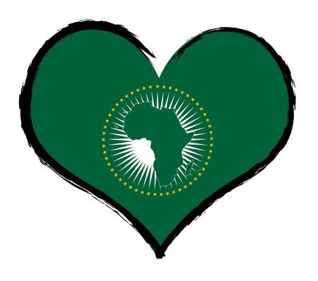 Africa - The beloved country as a symbolic representation as heart - Das geliebte Land als symbolische Darstellung als Herz Standard-Bild