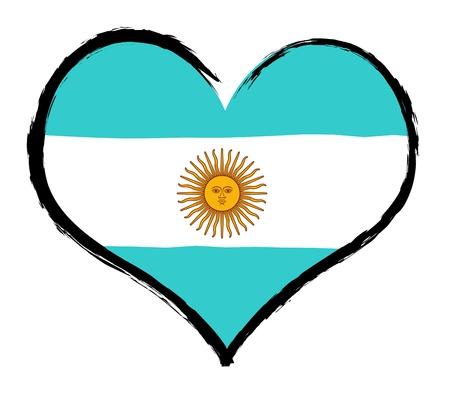 Argentina - The beloved country as a symbolic representation as heart - Das geliebte Land als symbolische Darstellung als Herz