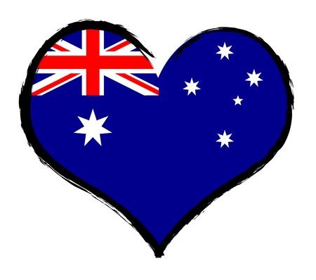 als: Australia - The beloved country as a symbolic representation as heart - Das geliebte Land als symbolische Darstellung als Herz