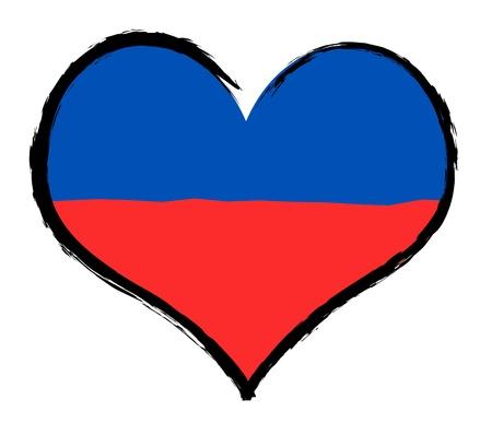 als: Haiti - The beloved country as a symbolic representation as heart - Das geliebte Land als symbolische Darstellung als Herz Stock Photo