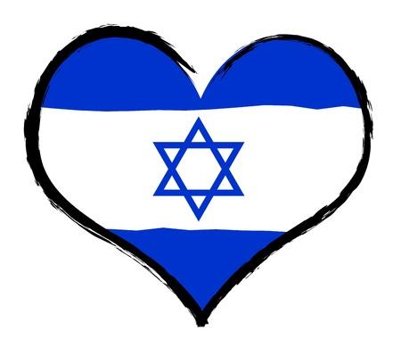 christus: Israel - The beloved country as a symbolic representation as heart - Das geliebte Land als symbolische Darstellung als Herz Stock Photo