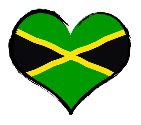 Jamaica - The beloved country as a symbolic representation as heart - Das geliebte Land als symbolische Darstellung als Herz photo