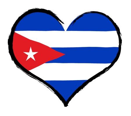 als: Cuba - The beloved country as a symbolic representation as heart - Das geliebte Land als symbolische Darstellung als Herz