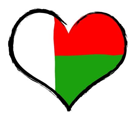 als: Madagascar - The beloved country as a symbolic representation as heart - Das geliebte Land als symbolische Darstellung als Herz