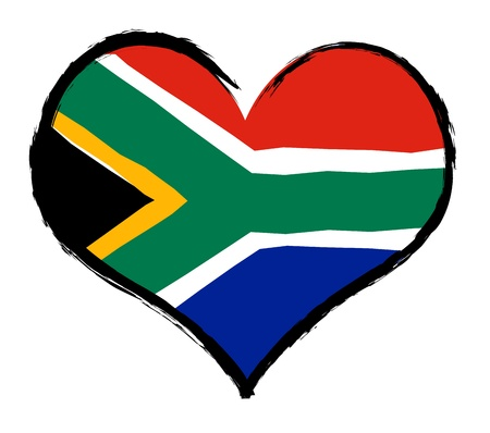 South Africa - The beloved country as a symbolic representation as heart - Das geliebte Land als symbolische Darstellung als Herz photo