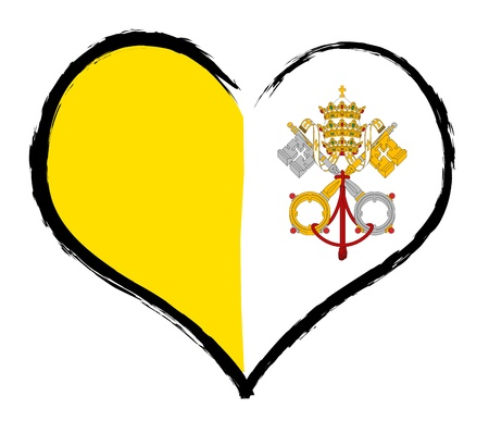 Heartland - Vatican - The beloved country as a symbolic representation as heart photo