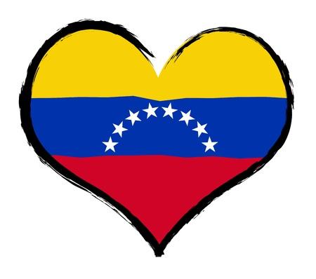 als: Heartland - Venezuela - The beloved country as a symbolic representation as heart - Das geliebte Land als symbolische Darstellung als Herz