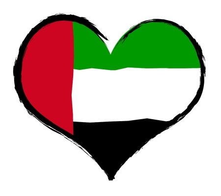 Heartland - United Arab Emirates - The beloved country as a symbolic representation as heart - Das geliebte Land als symbolische Darstellung als Herz
