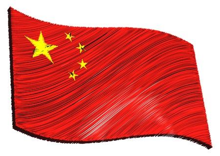 als: China - The beloved country as a symbolic representation as heart - Das geliebte Land als symbolische Darstellung als Herz