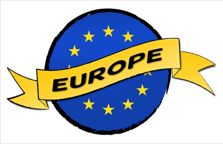 Europe - The beloved country as a symbolic representation as heart - Das geliebte Land als symbolische Darstellung als Herz Stock Photo - 13583592