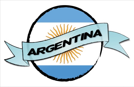 ARGENTINA- your country shown as illustrated banner for your presentation or as button    photo
