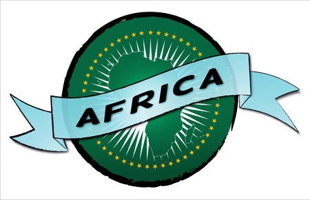 Circle Land AFRICA - your country shown as illustrated banner for your presentation or as button    photo