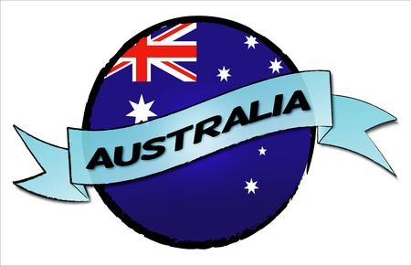 Circle Land AUSTRALIA - your country shown as illustrated banner for your presentation or as button Stock Photo - 13583589