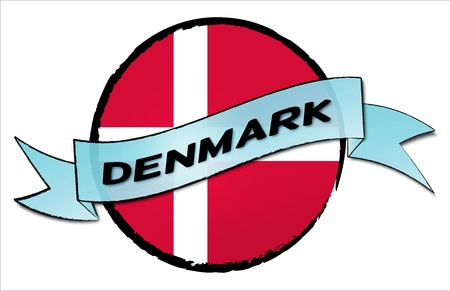 DENMARK - your country shown as illustrated banner for your presentation or as button... photo