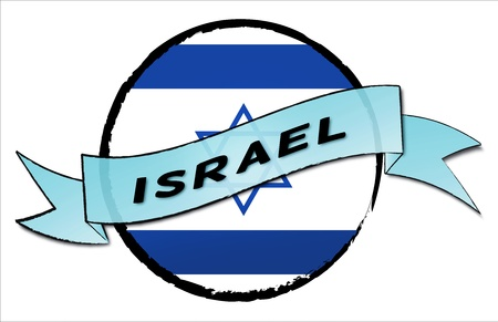 ISRAEL - your country shown as illustrated banner for your presentation or as button... photo