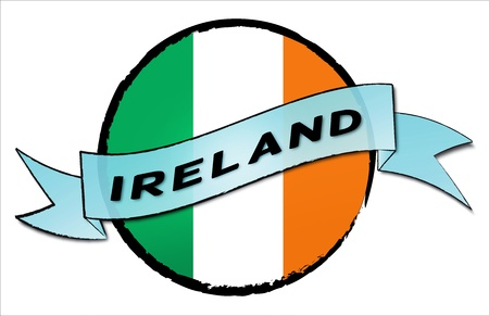 IRELAND - your country shown as illustrated banner for your presentation or as button... photo