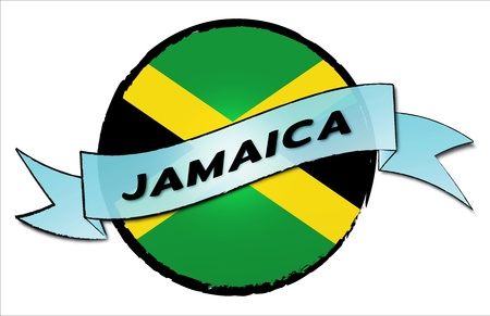 JAMAICA - your country shown as illustrated banner for your presentation or as button... photo