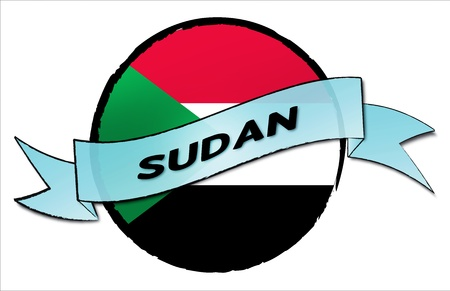 Reisen: Sudan - your country shown as illustrated banner for your presentation or as button...