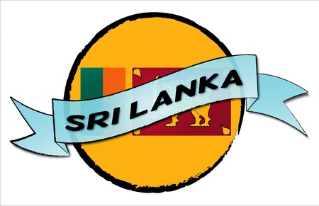SRI LANKA - your country shown as illustrated banner for your presentation or as button... Stock Photo - 13583645