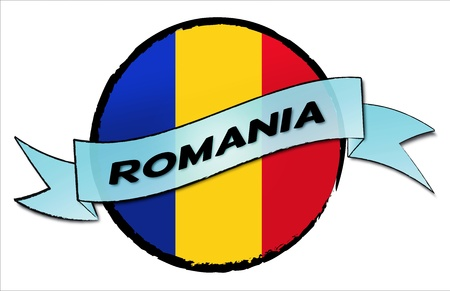 Circle Land Romania - your country shown as illustrated banner for your presentation or as button...