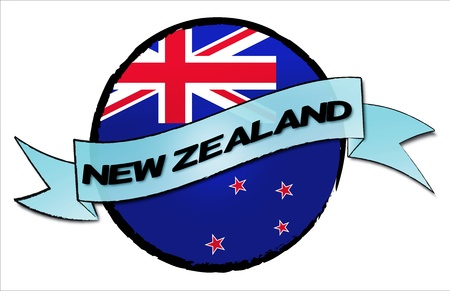 NEW ZEALAND - your country shown as illustrated banner for your presentation or as button    photo