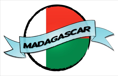 Reisen: Circle Land Madagascar - your country shown as illustrated banner for your presentation or as button