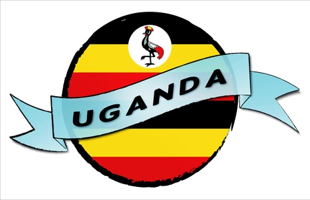 kampala: Uganda - your country shown as illustrated banner for your presentation or as button