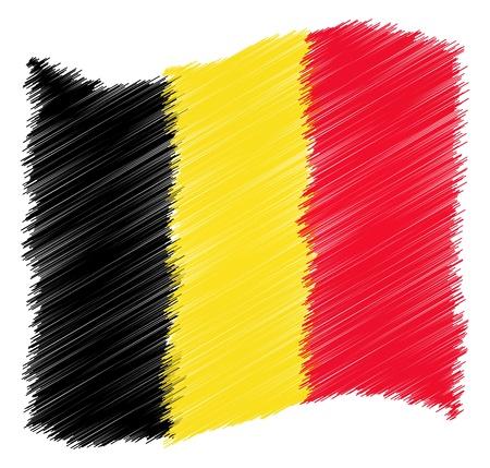 belgien: Sketch - Belgium - The beloved country as a symbolic representation as heart - Das geliebte Land als symbolische Darstellung als Herz