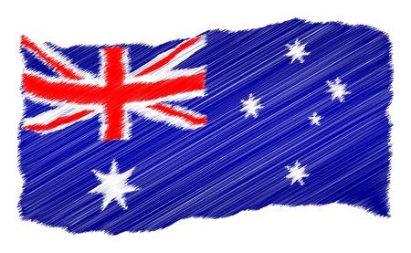 als: Sketch - Australia - The beloved country as a symbolic representation as heart - Das geliebte Land als symbolische Darstellung als Herz