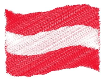 Austria - The beloved country as a symbolic representation as heart - Das geliebte Land als symbolische Darstellung als Herz