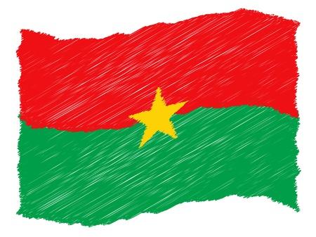 als: sketch - Burkina Faso - The beloved country as a symbolic representation as heart - Das geliebte Land als symbolische Darstellung als Herz Stock Photo