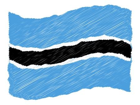 als: Botswana - The beloved country as a symbolic representation as heart - Das geliebte Land als symbolische Darstellung als Herz