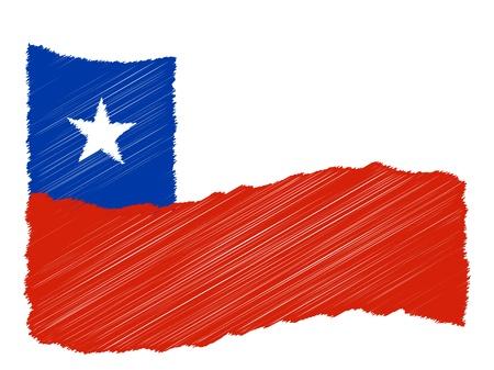 als: Chile - The beloved country as a symbolic representation as heart - Das geliebte Land als symbolische Darstellung als Herz