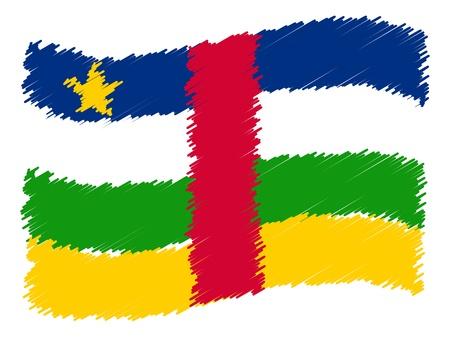 als: Central African Republic - The beloved country as a symbolic representation as heart - Das geliebte Land als symbolische Darstellung als Herz Stock Photo