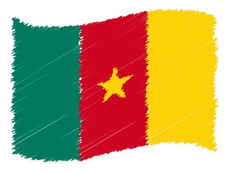 als: Cameroon -The beloved country as a symbolic representation as heart - Das geliebte Land als symbolische Darstellung als Herz