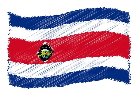 Costa Rica (state) - The beloved country as a symbolic representation as heart - Das geliebte Land als symbolische Darstellung als Herz photo