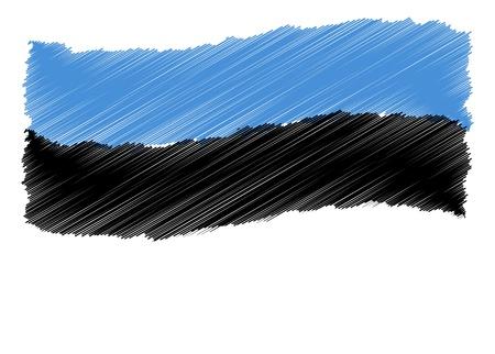 als: Sketch - Estonia - The beloved country as a symbolic representation as heart - Das geliebte Land als symbolische Darstellung als Herz