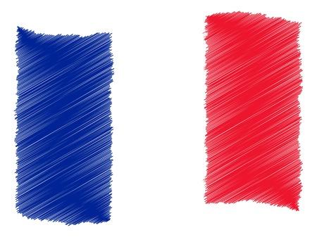 France - The beloved country as a symbolic representation as heart - Das geliebte Land als symbolische Darstellung als Herz