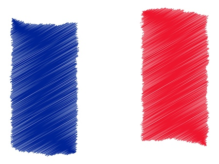 Frankrijk - De geliefde land als een symbolische representatie als hart - Das Geliebte Land ALS symbolische Darstellung 'ALS Herz