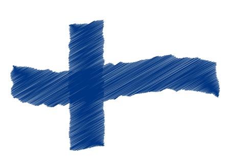 als: Finnland - The beloved country as a symbolic representation as heart - Das geliebte Land als symbolische Darstellung als Herz Stock Photo