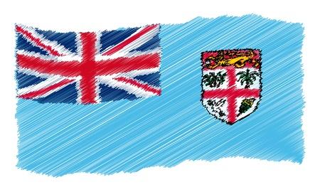 als: Fiji - The beloved country as a symbolic representation as heart - Das geliebte Land als symbolische Darstellung als Herz