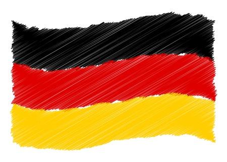 Duitsland - De geliefde land als een symbolische representatie als hart - Das Geliebte Land ALS symbolische Darstellung 'ALS Herz Stockfoto