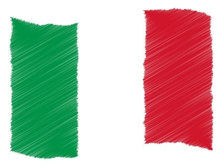 Italië - De geliefde land als een symbolische representatie als hart - Das Geliebte Land ALS symbolische Darstellung 'ALS Herz Stockfoto - 13657001