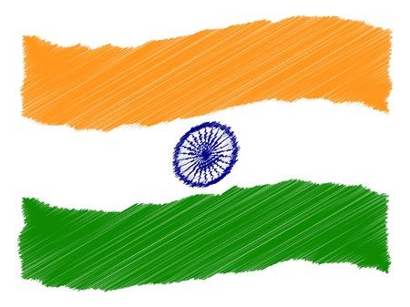 als: India - The beloved country as a symbolic representation as heart - Das geliebte Land als symbolische Darstellung als Herz Stock Photo