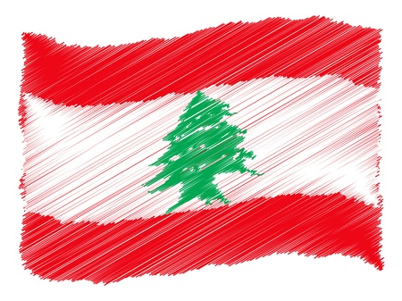 Lebanon - The beloved country as a symbolic representation as heart  Stock Photo - 13707266