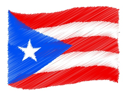 Puerto Rico - The beloved country as a symbolic representation photo