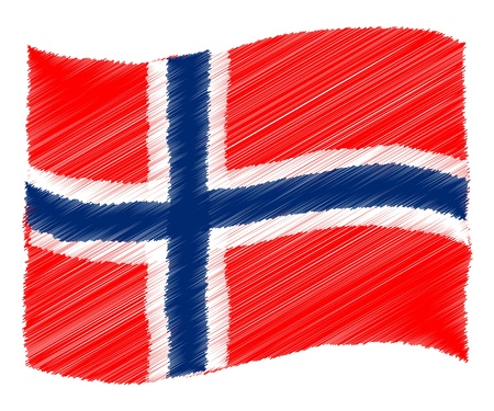 Norway - The beloved country as a symbolic representation photo