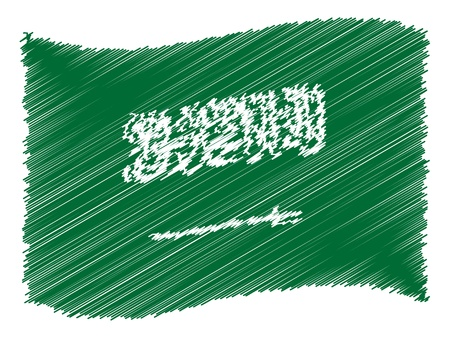 Saudi Arabia - The beloved country as a symbolic representation photo